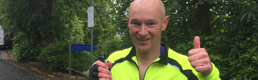 David raises over £12k for charity after 168 mile challenge