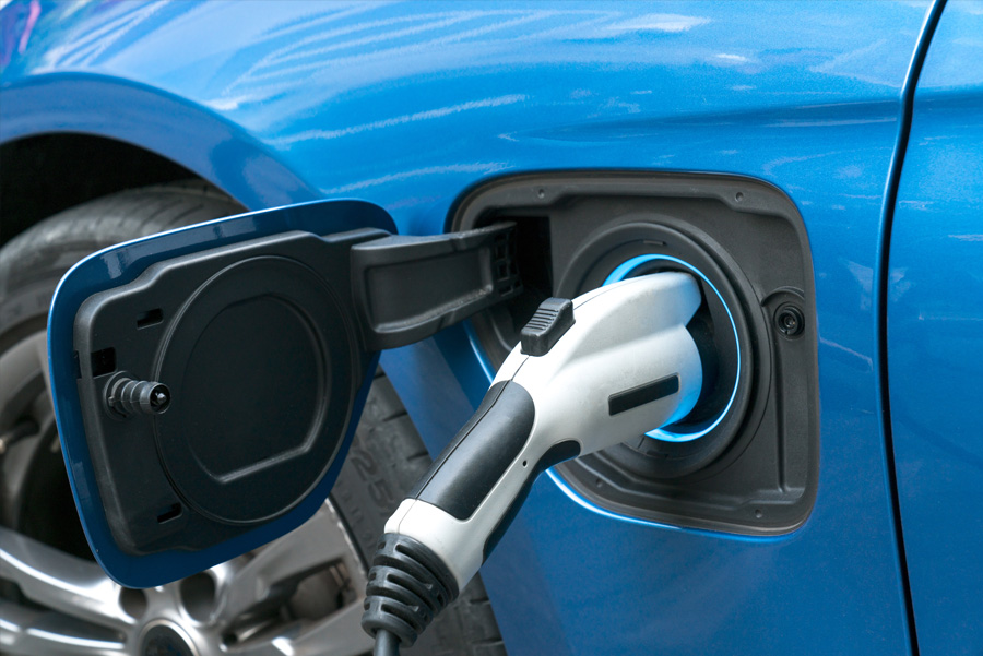 The cost of charging an electric vehicle