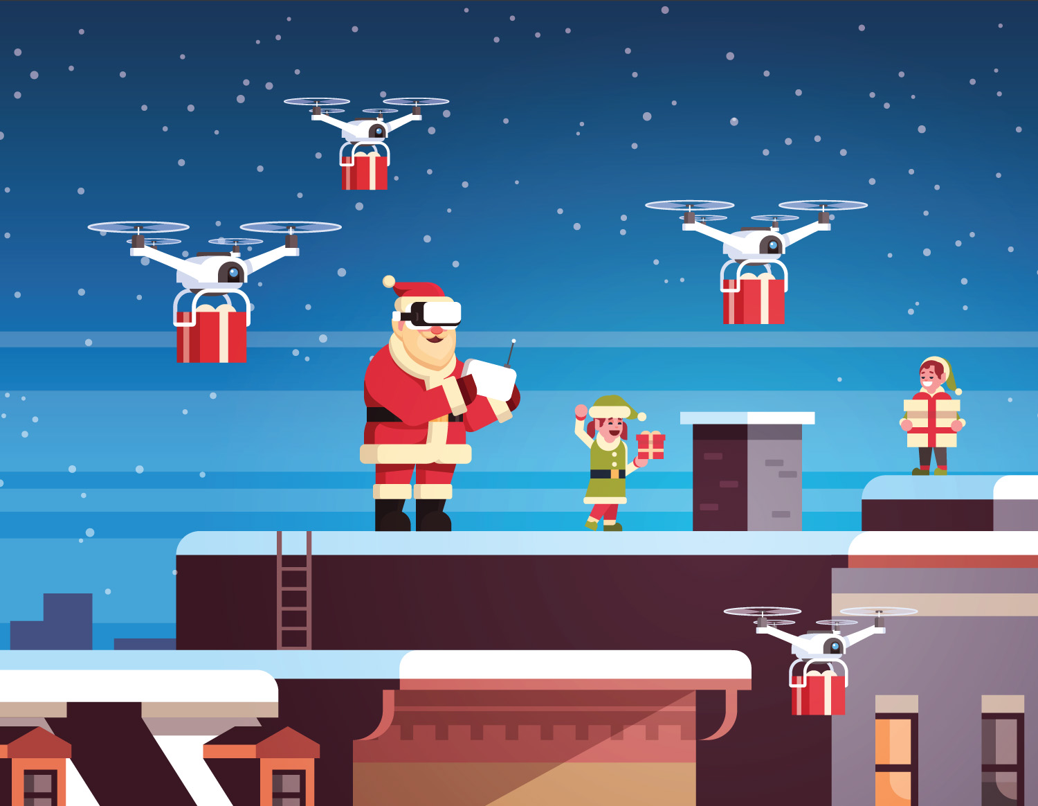 Even Santa faces mobility issues for his fleet of reindeer