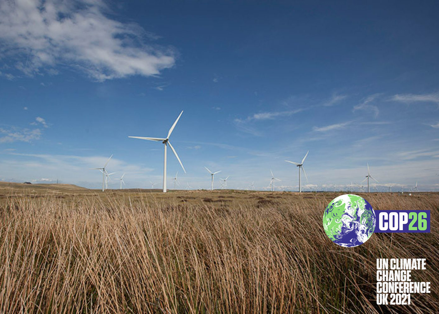 COP26 President visits Whitelee Windfarm near Glasgow to urge action on climate change