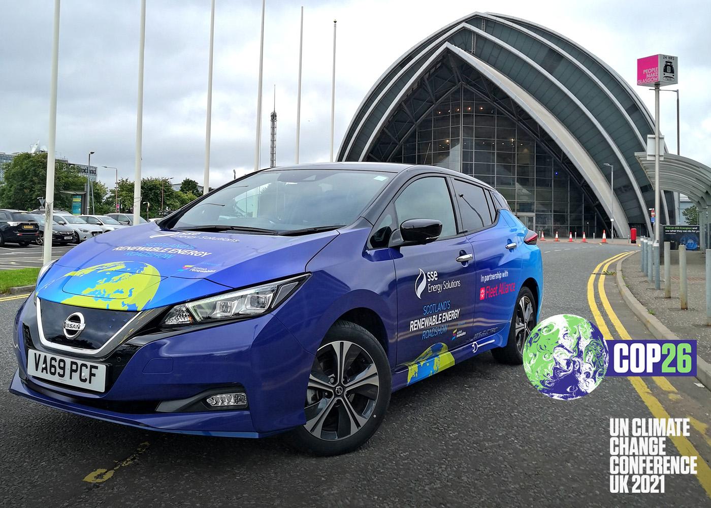 Fleet Alliance Provides the Driving Force Behind Scotland's Renewable Energy COP26 Roadshow